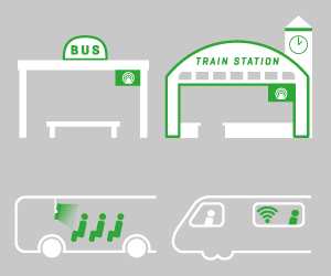 Pictogram of r2p Passenger Information Systems solution