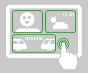 Pictogram of r2p Infotainment solution
